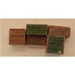 18AL-10 5 BOXES COLL. CARTRIDGESLot of 5 misc. collector cartridge boxes  (some boxes only); all shr