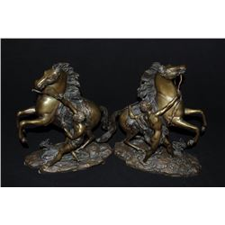 "17GZ-4 CHEAUX DE MARLY SIGNEDPair of Chevaux De Marly, known as ""Marley  Horses"" signed ""Coustou"" on"