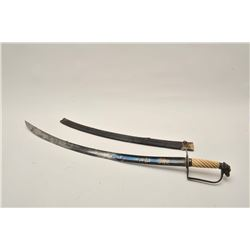 18VS-4 EAGLE HEAD OFFICERS SWORDAmerican eagle head officer's sword with  twisted bone grip, blued a