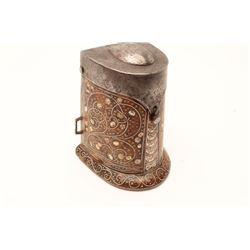 18CA-7  INLAID PATRONSaxon style inlaid patron for linen  cartridges circa 1580-1650 (Wheelock Era)