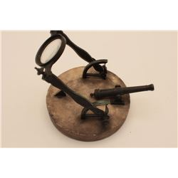 EVE-109 ANTIQUE SUN DIAL CANNONGenuine antique sundial cannon probably  French and obtained by Eric