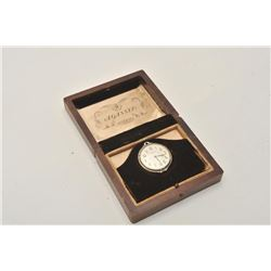 18BZ-15 GENT'S POCKET WATCHRare gentleman's 18KT gold and enamel pocket  watch. Excellent condition.