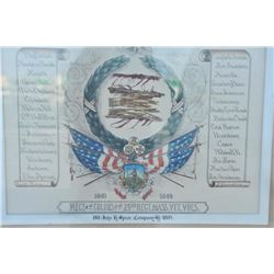 "EVE-104 PATRIOTIC ARTWORKPatriotic artwork showing title ""Piece of the  Colors of the 29th Regt., Ma"