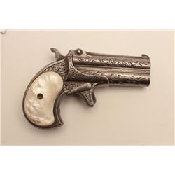 18CF-2 REMINGTON O/URemington .41 caliber O/U derringer with one  line address, Deluxe New York engr