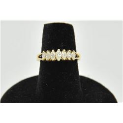 18RPS-28 DIAMOND RINGOne seven marquee diamond ring in 14k yellow  gold. 7 diamonds weigh approx 0.6