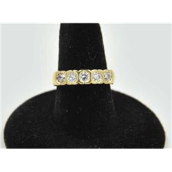 18RPS-32 DIAMOND RINGOne 5 diamond bezel set band in 14k yellow  gold. Diamonds weighing approx. 0.5