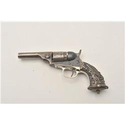 "18AP-14 TIFFANY STYLE GRIP ON COLTColt Pocket conversion revolver, .38 caliber,  3.5"" barrel, engrav"