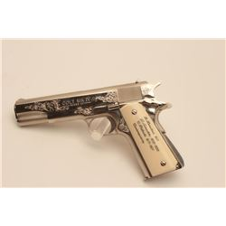 18BM-36 COLT GOV'T MDLEUltra rare Colt Custom Shop Government Model  Engraving Sampler, .45 ACP, nic
