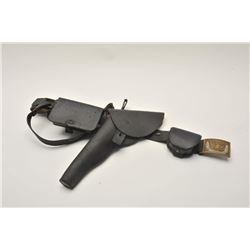 "18AL-26 DRAGOON HOLSTERDragoon flap holster marked ""E. Gaylord"" on  belt with Non-Commissioned or En"