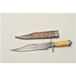 "18CA-15 CROOKES & CLARK BOWIE""Crookes and Clark"" marked clipped point  bowie knife made for Mexican"
