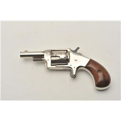 "18CA-317 1870'S SPUR TRIGGER1870's spur trigger revolver in .38 rim fire  caliber and marked ""Smoker"