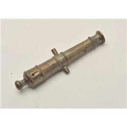 "EVE-406 CAST BRASS MINIATURE CANNONCast brass miniature cannon barrel only  inscribed ""Relic of Roya"