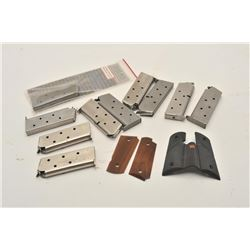 18BM-74 DETONIC CLIPS11 Detonics magazines with a couple of  manuels and 2 pairs of grips. Est.: $20