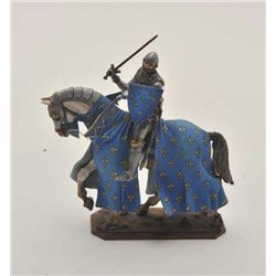 EVE-413 CAST LEAD FIGURE OF KNIGHTCast lead hand painted figure of knight in  armor. Made in Russia.