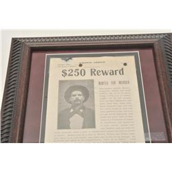 18CA-343 ORIG. SAN BENITO CTY, CA REWARD POSTEROriginal San Benito County California $250  reward po