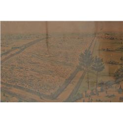 "18CA-346 ""BIRDS EYE VIEW OF ANDERSONVILLE PRISON""""Birds eye view of Andersonville prison from  the s"