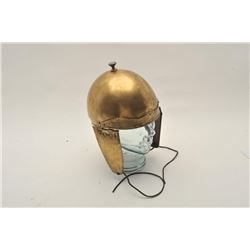 18CA-350 BRASS PROP HELMETUnmarked brass prop helmet in Roman style  made for Ben Hur movie. Some de