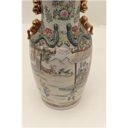 "17FU-4 ANTIQUE CHINESE FLOOR VASELarge antique Chinese floor vase,  approximately 27"" in height, ver"