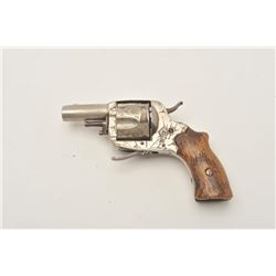 18AP-1002 FOLDING TRIGGER REV.Eibar engraved folding trigger revolver,  approximately .45 caliber.