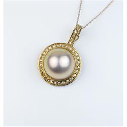 18CAI-55 MOBE PEARL PENDANTGorgeous pendant featuring a fine Mobe pearl  averaging 15.00 in diameter