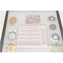 18AP-84 TEXAS BADGES REPRORiker case of 10 reproduction Texas badges.      Est.:  $150-$300.