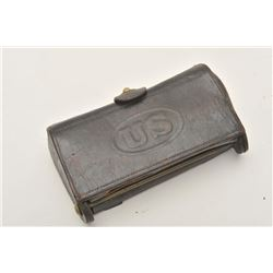 18AP-1000 U.S. MARKED CART.U.S. leather cartridge case with dummy .45-70  rounds.      Est.:  $50-$1