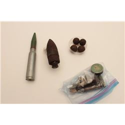 18AL-29 MISC. LOTMisc. projectile lot; dug up and collected;  includes large artillery round marked