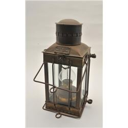 18AL-84 CARGO LIGHTVintage brass kerosene cargo light, well  marked and dated 1939 (Great Britain),