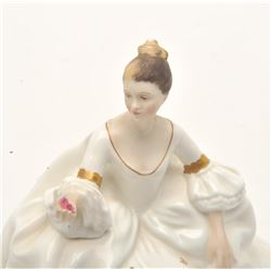 "17FU-30 ROYAL DOULTON ""MY LOVE"" 1965 FIGURINERoyal Dalton ""My Love"" figurine,   approximately 7"" in"
