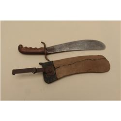 17JL-10 HOSP CORP BOLOHospital Corps. bolo knife dated 1914 with  replaced and recovered scabbard.