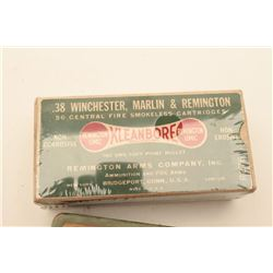 18BJ-13 LOT OF 4 BOXES OF AMMOLot of 4 boxes of collector ammo including:   1. Full box of Remington