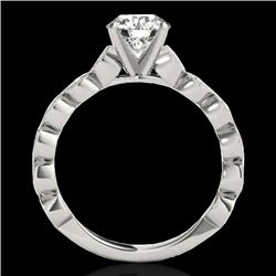 1.5 CTW H-SI/I Certified Diamond Solitaire Ring 10K White Gold - REF-163W6H - 34880