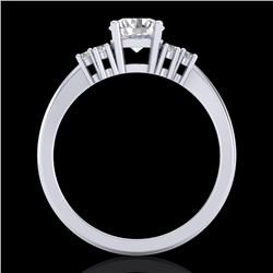 1 CTW VS/SI Diamond Solitaire Ring 18K White Gold - REF-227Y3N - 36935