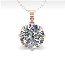2 CTW VS/SI Diamond Solitaire Necklace 14K Rose Gold - REF-921K6R - 29582