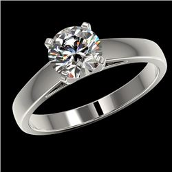 1.26 CTW Certified H-SI/I Quality Diamond Solitaire Engagement Ring 10K White Gold - REF-231X8T - 36