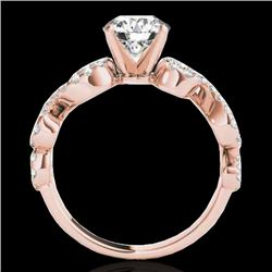 1.4 CTW H-SI/I Certified Diamond Solitaire Ring 10K Rose Gold - REF-162M4F - 35242