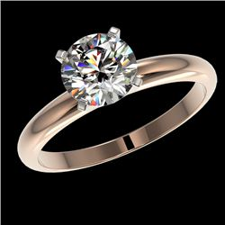 1.57 CTW Certified H-SI/I Quality Diamond Solitaire Engagement Ring 10K Rose Gold - REF-330N8Y - 364
