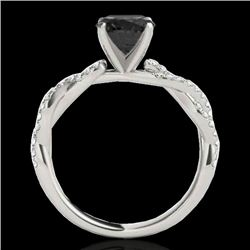 1.25 CTW Certified Vs Black Diamond Solitaire Ring 10K White Gold - REF-54H9W - 35235
