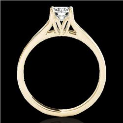 1 CTW H-SI/I Certified Diamond Solitaire Ring 10K Yellow Gold - REF-140F2M - 35157