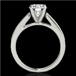 1.25 CTW H-SI/I Certified Diamond Solitaire Ring 10K White Gold - REF-158W2H - 35005