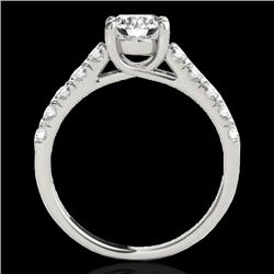 1.55 CTW H-SI/I Certified Diamond Solitaire Ring 10K White Gold - REF-207X3T - 35489