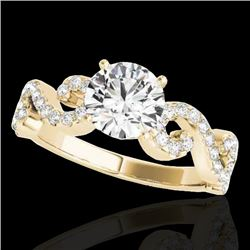 1.4 CTW H-SI/I Certified Diamond Solitaire Ring 10K Yellow Gold - REF-162W4H - 35243