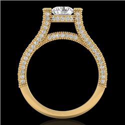 2 CTW VS/SI Diamond Micro Pave Ring 18K Yellow Gold - REF-290X9T - 36949