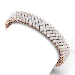 20 CTW Certified VS/SI Diamond Bracelet 18K Rose Gold - REF-872T8X - 40050