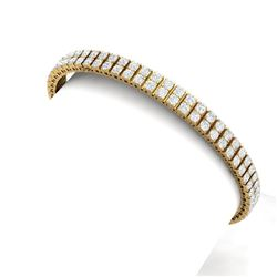 8 CTW Certified SI/I Diamond Bracelet 18K Yellow Gold - REF-402M3F - 39937