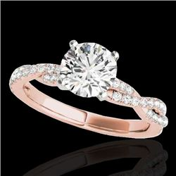 1.25 CTW H-SI/I Certified Diamond Solitaire Ring 10K Rose Gold - REF-152X5T - 35233