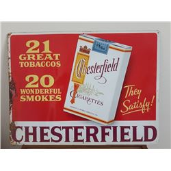 SIGNS, CHESTERFIELD TOBACCO