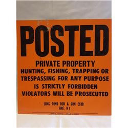 SIGNS, PRIVATE PROPERTY