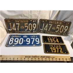 GAS, LICENCE PLATES
