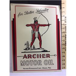SIGNS, ARCHER MOTOR OIL